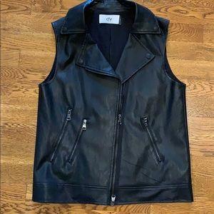 Dolce Vita faux leather vest size small